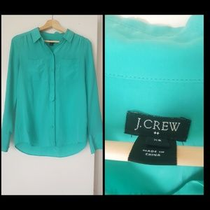 Sheer J. Crew Top